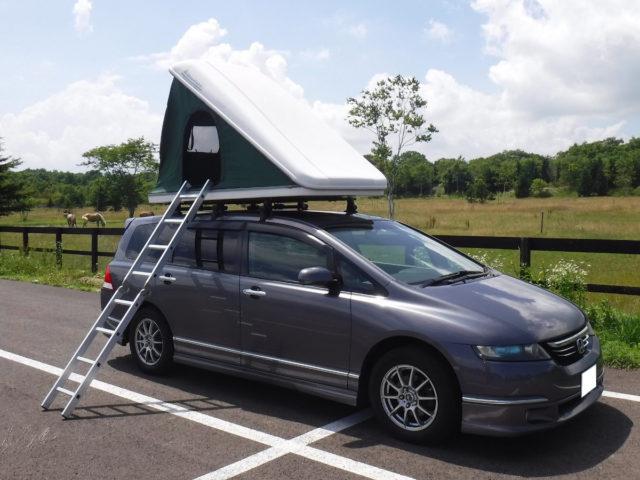 CAMP IN CAR 新千歳フォレスト基地の車中泊車「オデッセイ」