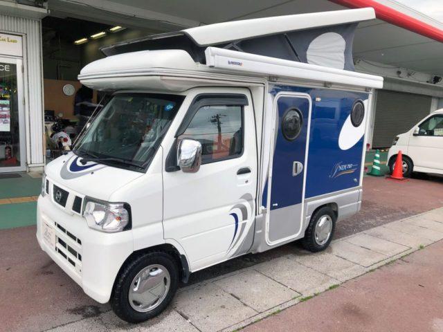 ウエスト・キャンピングカーレンタル四国の軽キャンピングカー「インディ727」