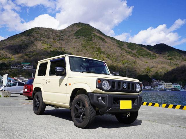 新型ジムニーの車中泊車仕様でソロキャンプ ジムニーJB64W